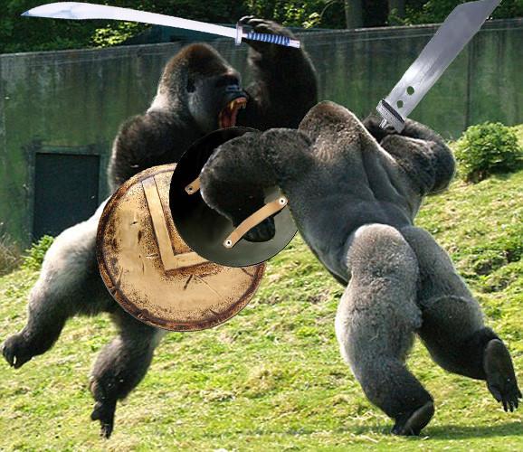 Epic Gorilla Fight Barnorama