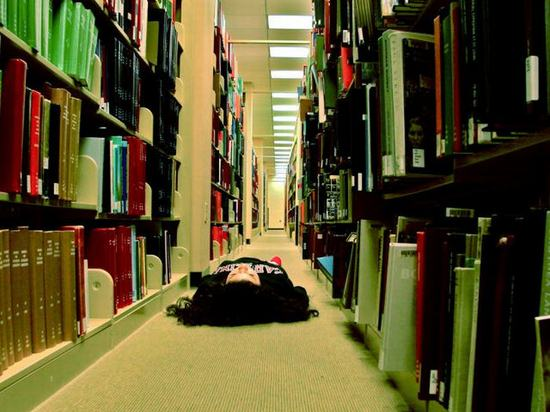 library-sleep