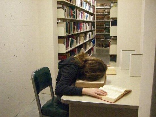 library-sleep