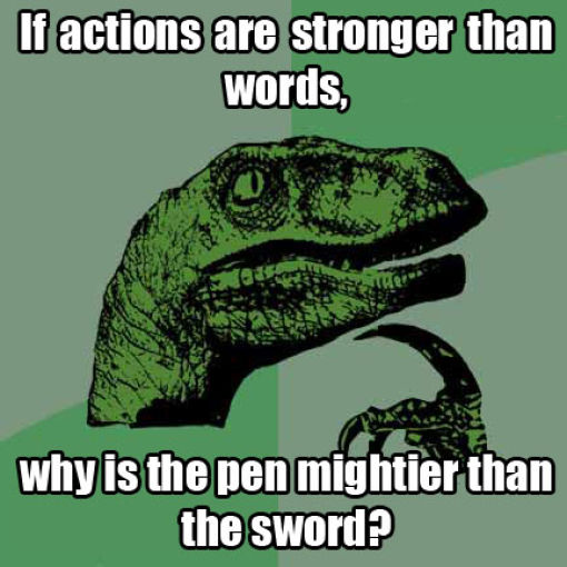 Fun Meme Questions : Philosoraptor has some wise questions barnorama