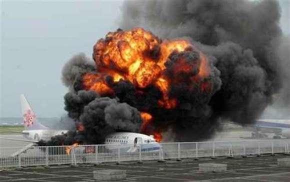 Japan Plane Fire