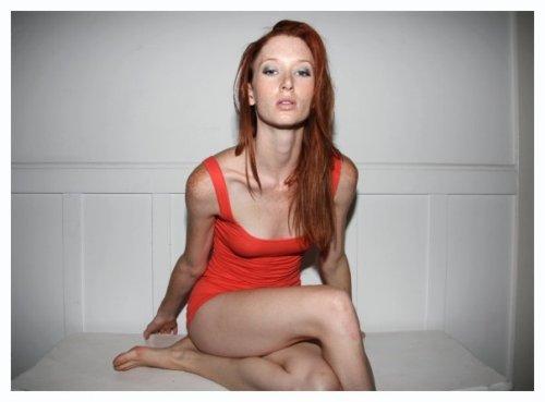 Cute thin redhead