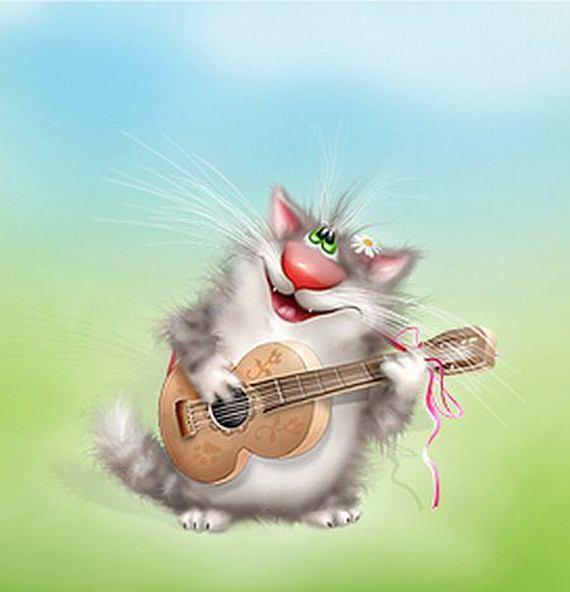 Анимационные музыкальные открытки прикольные, раритетные