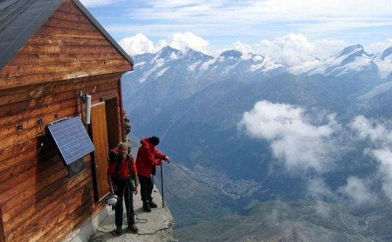 Amazing Mountain Hut Switzerland