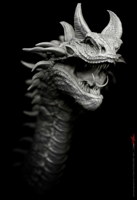 Espectaculares dragones en 3D