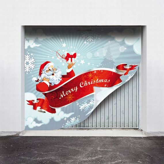 Styling Your Garage Doors For Christmas