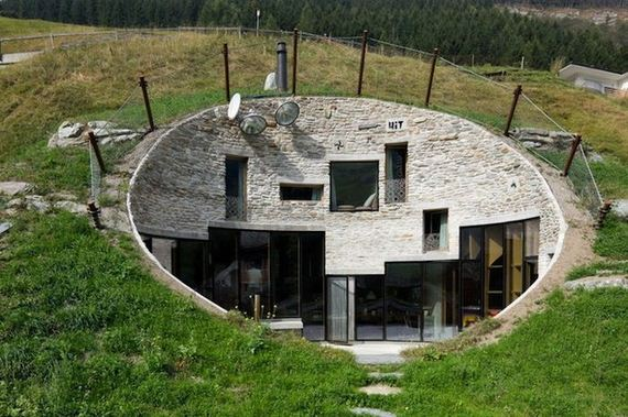 House built inside a mountain in swiss alps barnorama House built into mountain