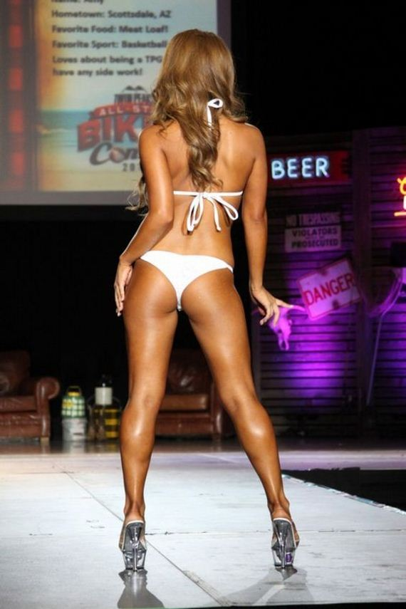 Miss wcw bikini contest winner Hughes tried