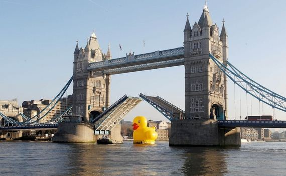 50-foot-rubber-duck-bobs-along-the-river-