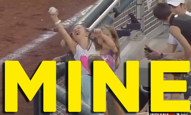 Little-Girl-And-Her-Foul-Ball