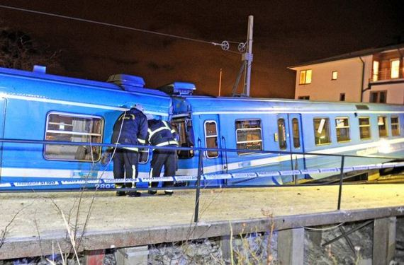 Stolen Train Crashes Into Home in Sweden