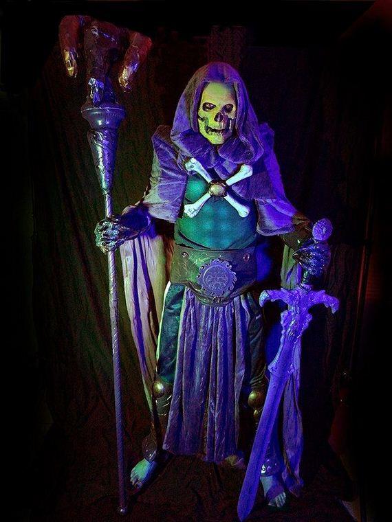 Black Light Glowing Skeletor Costume Barnorama
