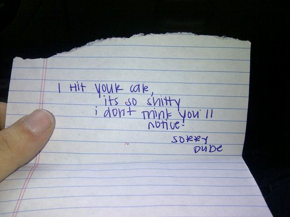 Best Notes Ever Left On Car Windshields Barnorama