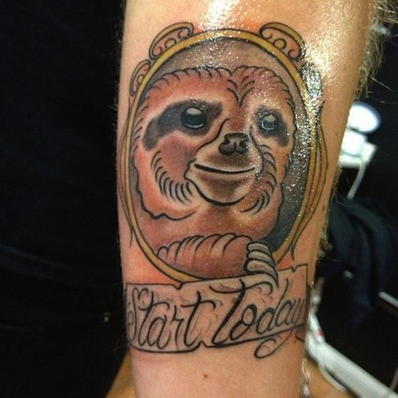 best-sloth-tattoos- time