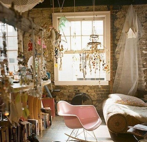rustic bohemian apartment decor inspiration studio design   Bohemian Homes - Barnorama
