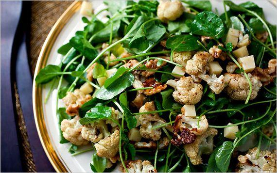 Holiday Salad with Cranberry Apple Orange Vinaigrette
