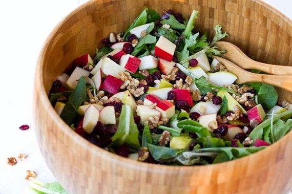 Winter Green Salad With Walnuts, Apples, And Parmesan-Anchovy Dressing ...
