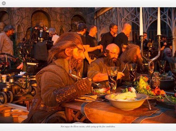 hobbits por trás das cenas