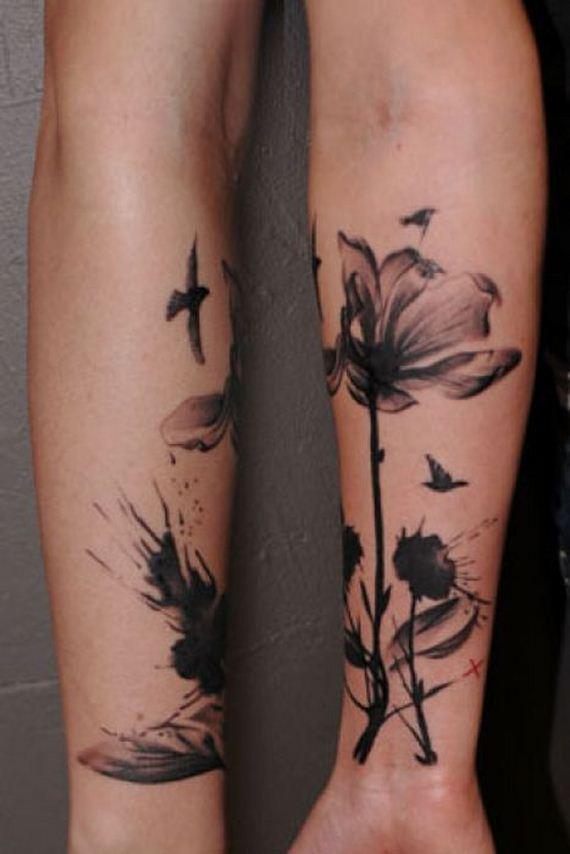 Black X Ray Flower Tattoo Flowers Healthy
