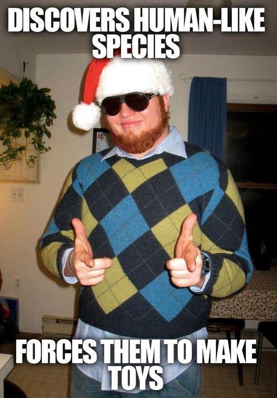 Meet Sleazebag Santa The New Christmas Meme Barnorama