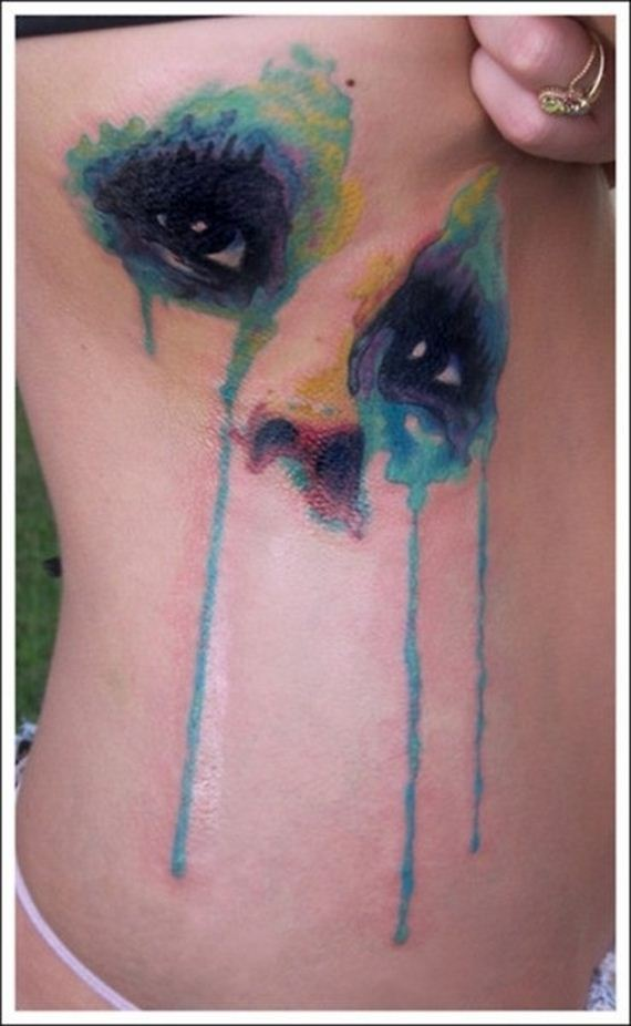 Inkspiration on pinterest watercolor tattoos little for Water paint tattoo