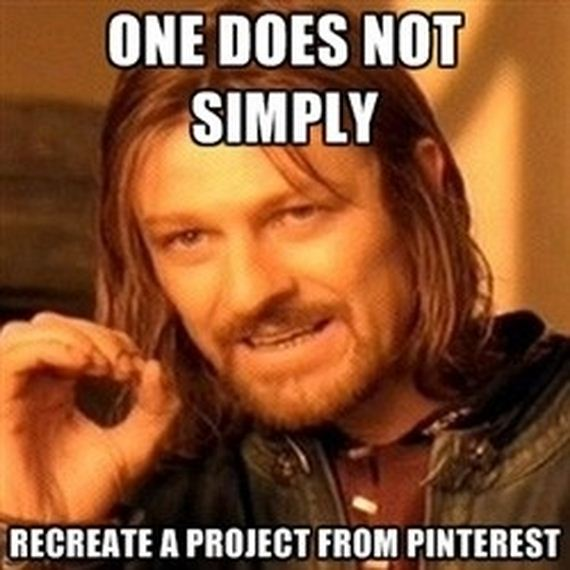 One Does Not Simply Pinterest
