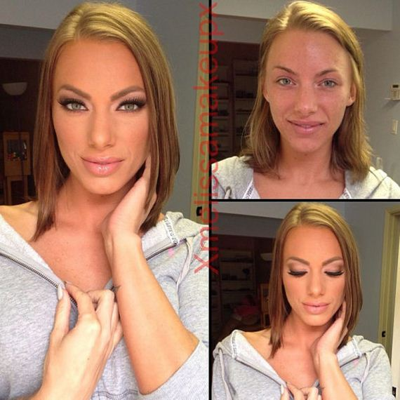 Adult Film Actresses With And Without Makeup - Barnorama-5470