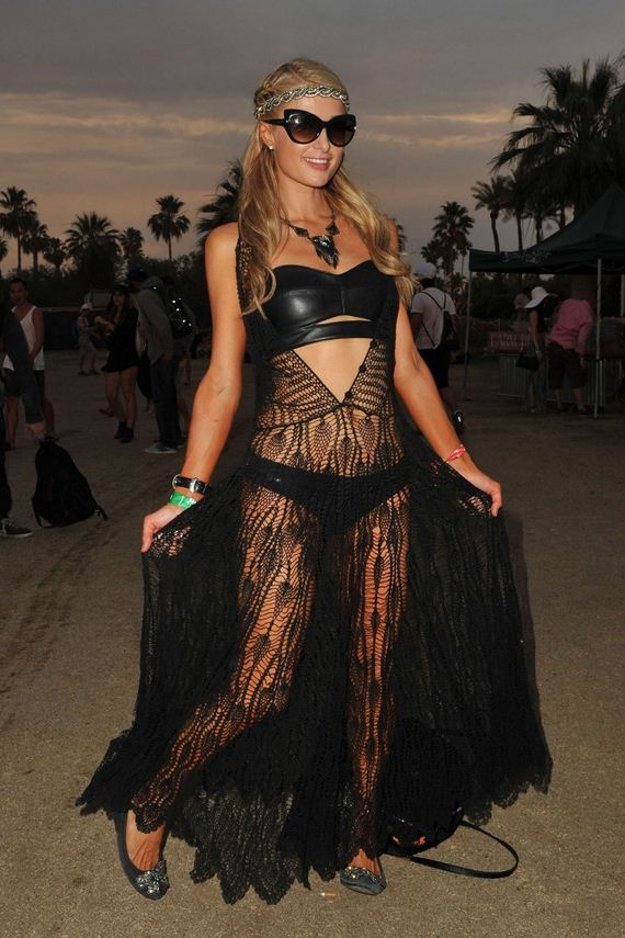 Paris-Hilton-in-black-at-2014-Coachella