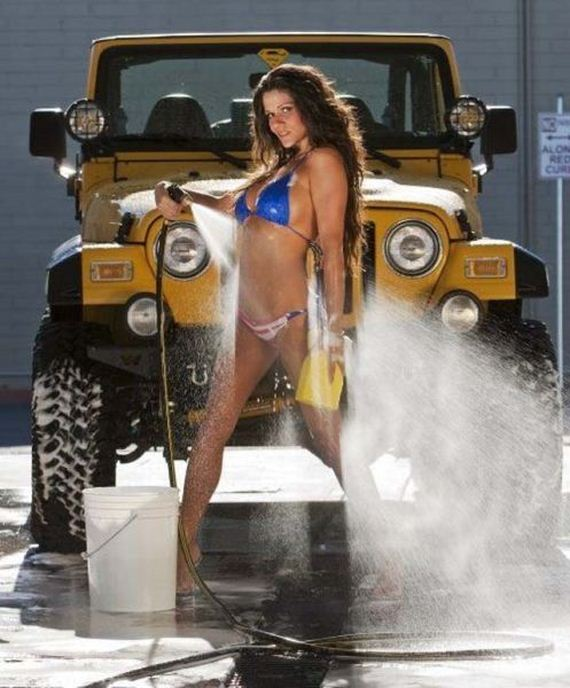 Car Wash Barn >> Hot girls & Jeeps - Barnorama