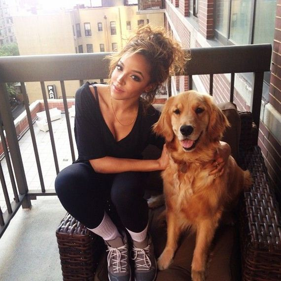 Photo of Tinashe & her Dog