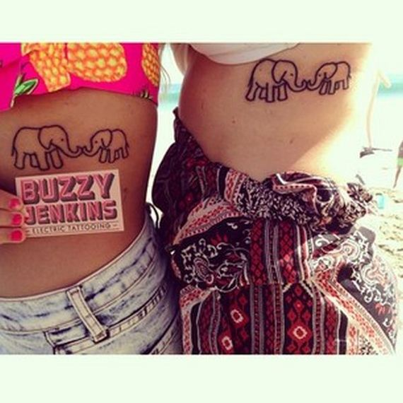 Cool Mother Daughter Tattoos