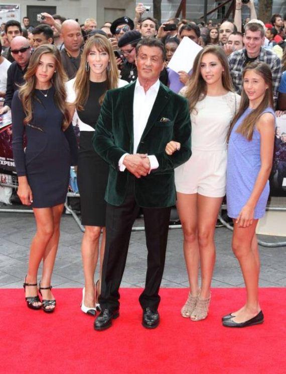 Sylvester Stallone Has A Gorgeous Family - Barnorama
