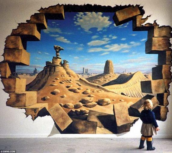 Crazy-3D-Τοιχογραφίες