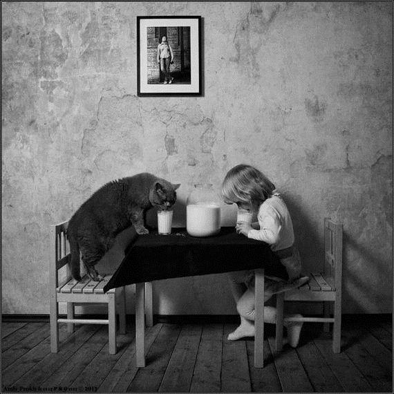 Κορίτσι-Her-Cat