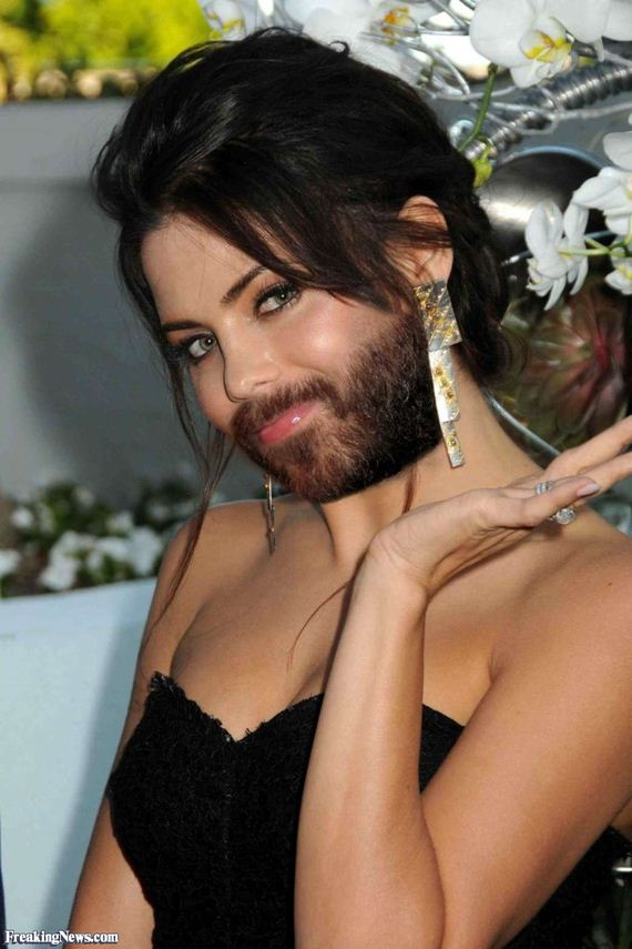 Mila-Kunis-With-Beard