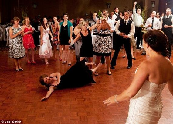 Catching Wedding Bouquet Meaning Photos Reveal The True Mayhem Of A Toss
