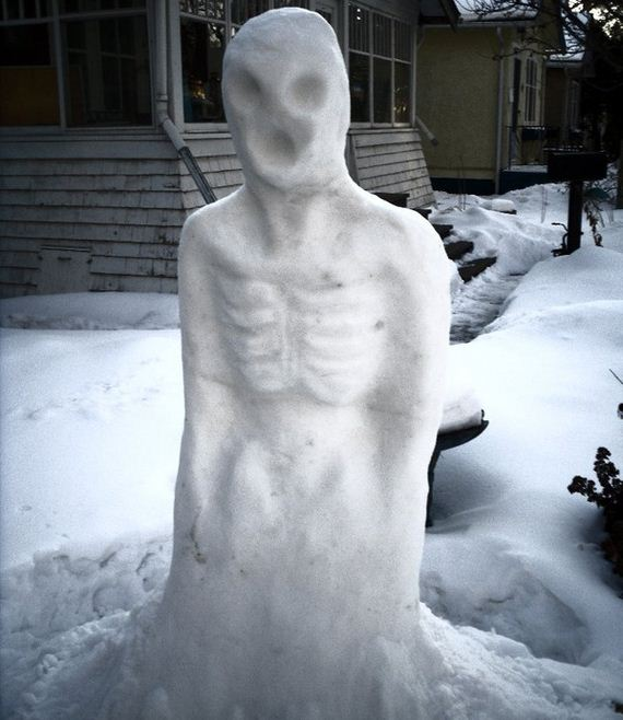 Do You Want To Build A Horrifying Snowman Barnorama