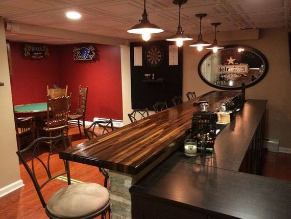 Lighting Basement Washroom Stairs: Man Turns Unfinished Basement Into The Ultimate Bar