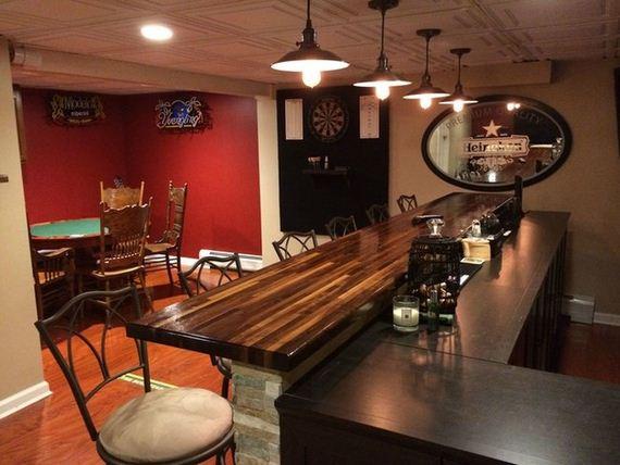 Unfinished Basement Bar Ideas