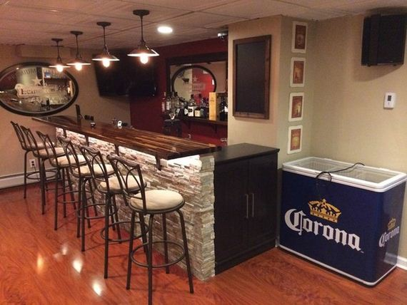 Man turns unfinished basement into the ultimate bar barnorama Diy home bar design ideas