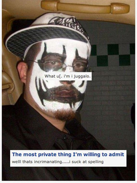 Hilarious Pictures Of The Juggalos Of OkCupid Hilarious #