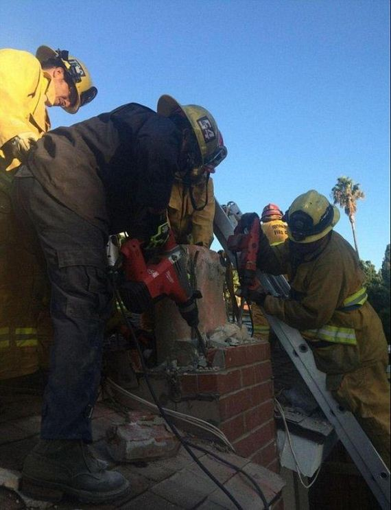 Woman Gets Dumped, Gets Stuck In Guys Chimney, Gets