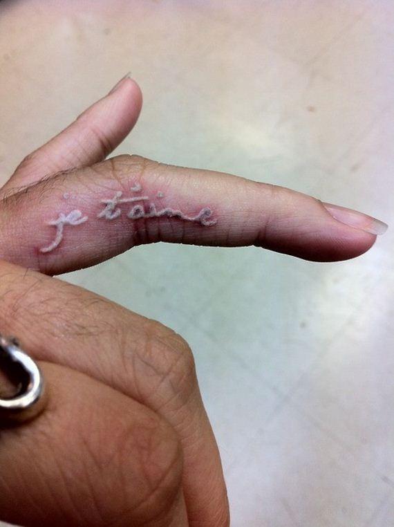 White Ink Tattoos Wedding Ring: Gorgeous White Ink Tattoos