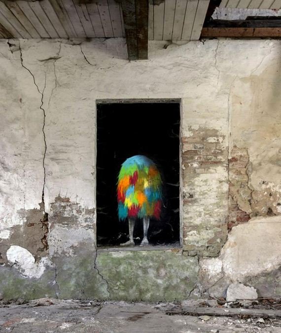 Abandoned Buildings Become Home To Kim Kwacz's Monsters