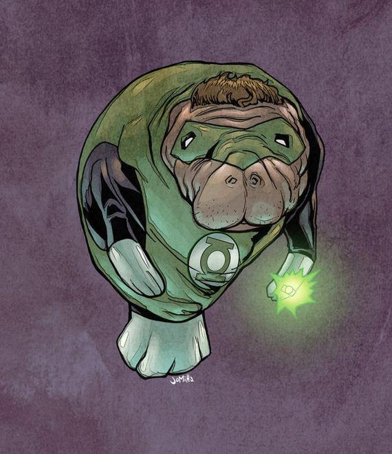 Superhero-Manatees