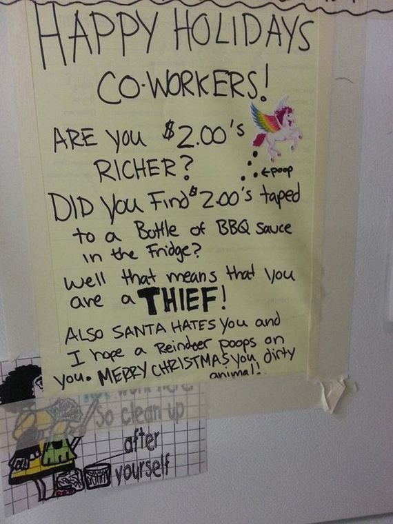 Work Fridge Notes That Prove Sharing Is Caring Barnorama