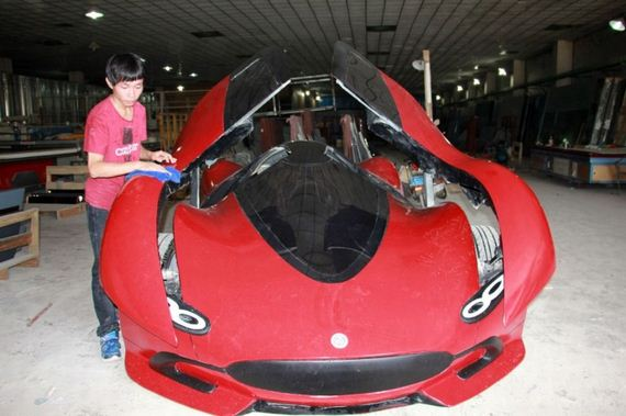 27 year old chinese engineer builds homemade super car barnorama. Black Bedroom Furniture Sets. Home Design Ideas