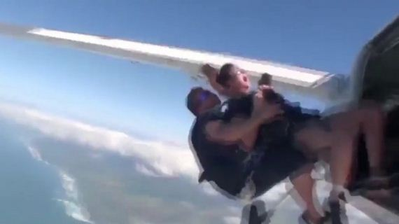 Nina-Dobrev -Goes-skydiving
