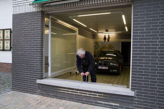 Belgian Man Builds A Secret Garage Door Barnorama