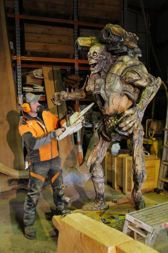 Man Uses Chainsaw To Create Demon Sculpture Revenant From